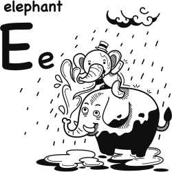 Word e coloring page