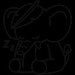 Sleeping cute elephant