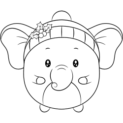 Cute baby elephant coloring