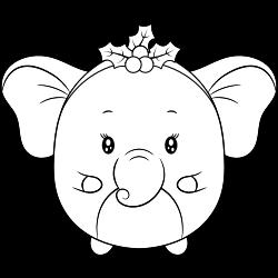 Cute little elephant coloring