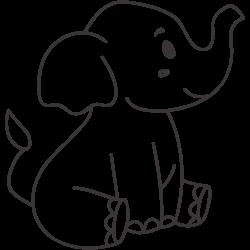 Sitting cute elephant