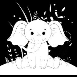 Little elephant sitting