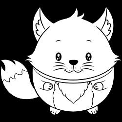 Cute baby fox coloring