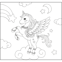 Pegasus on the clouds