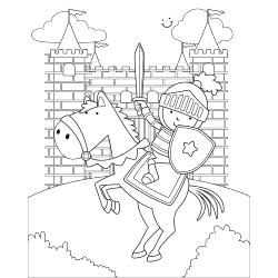 Knight attacking to castle
