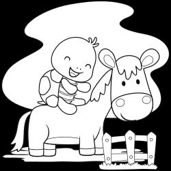 Turtle riding horse