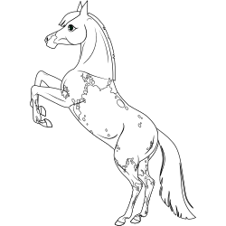 Realistic looking horse