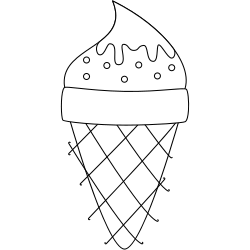Free Ice Cream Cone Coloring Pages