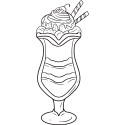 Coloring pages of ice cream cones