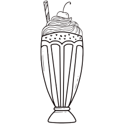 Coloring pages of ice cream sundaes