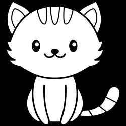 Cute kawaii cat coloring