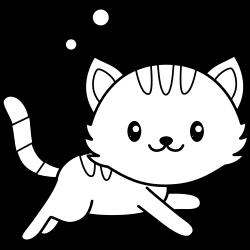 Kawaii cat running