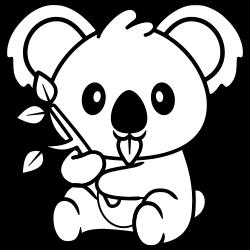 Koala likes eating leaves