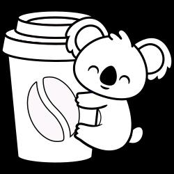 Koala likes coffee