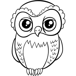 Angry looking owl