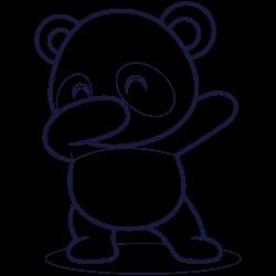 Dab panda coloring
