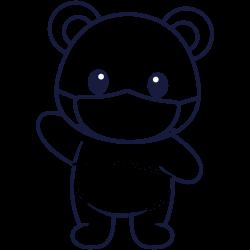 Panda with a mask