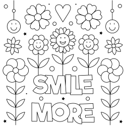 Smile more coloring page