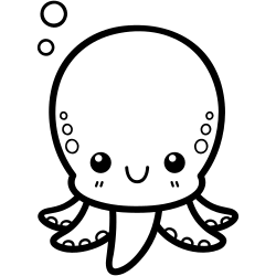 Cute Octopus Coloring Page