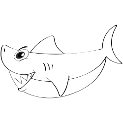 Mommy shark coloring pages