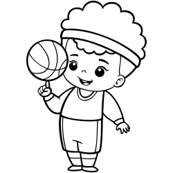 Basketball coloring page