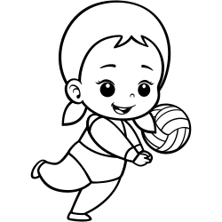 Volleyball coloring page