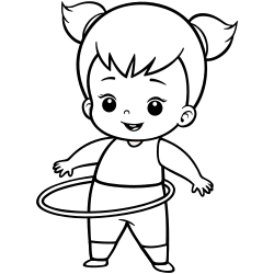 Hula hoop coloring page