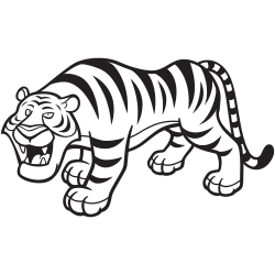 Wild tiger coloring pages