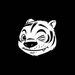 Smiling tiger face