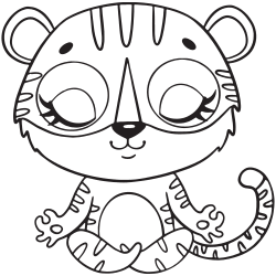 White tiger coloring pages