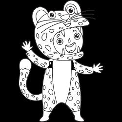 Kid in tiger costume