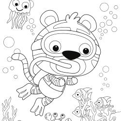 Scuba diving tiger