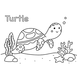 Printable turtle coloring pages