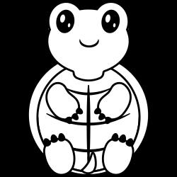 Baby turtle sitting