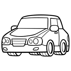 Vehicle coloring page
