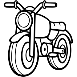 Motorbike coloring page