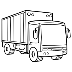 Truck vehicle coloring page