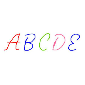 Easy drawing for kids with alphabets