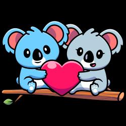 Koala couple - colored version